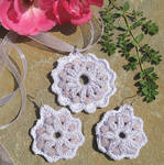 Necklace and Earring Set in Lilac and White