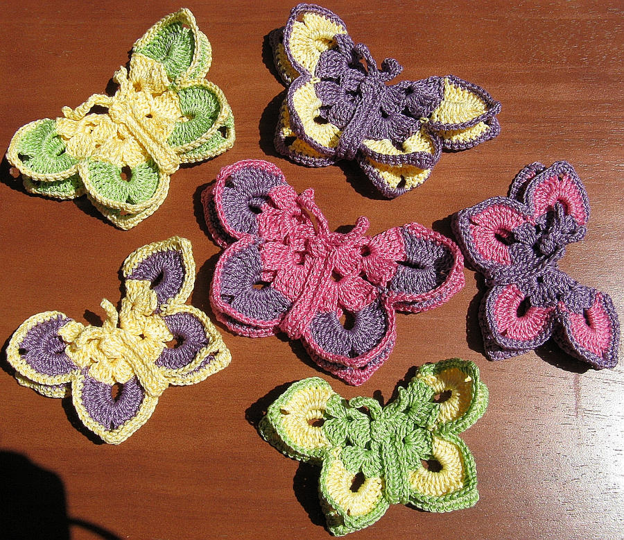 Crochet 3D Butterfly Egyptian Cotton by doilydeas on DeviantArt