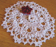 7 Inch Highly Textured Doily in White, No. 84 by doilydeas