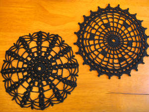 Halloween Spider Web Coaster Set, with Patterns by doilydeas