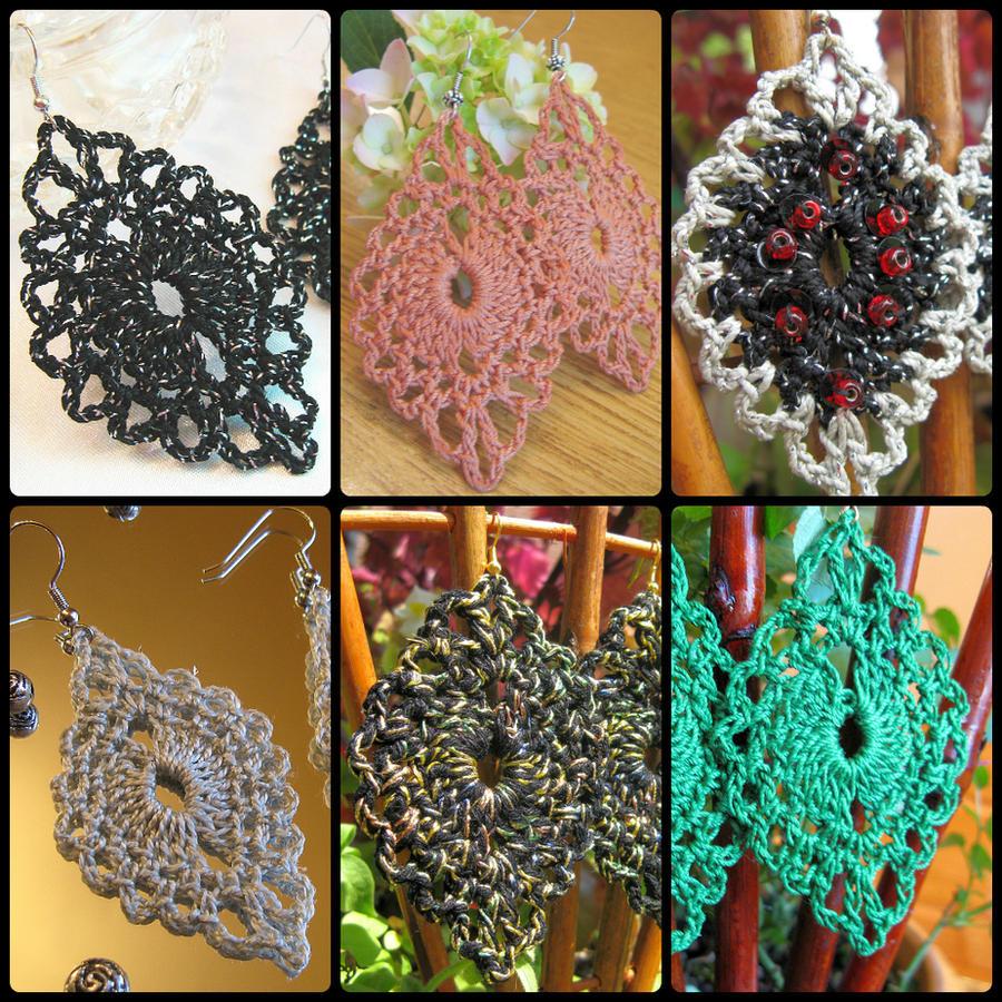 PDF Crochet Pattern for Classic Oval Crochet Earri by doilydeas on ...