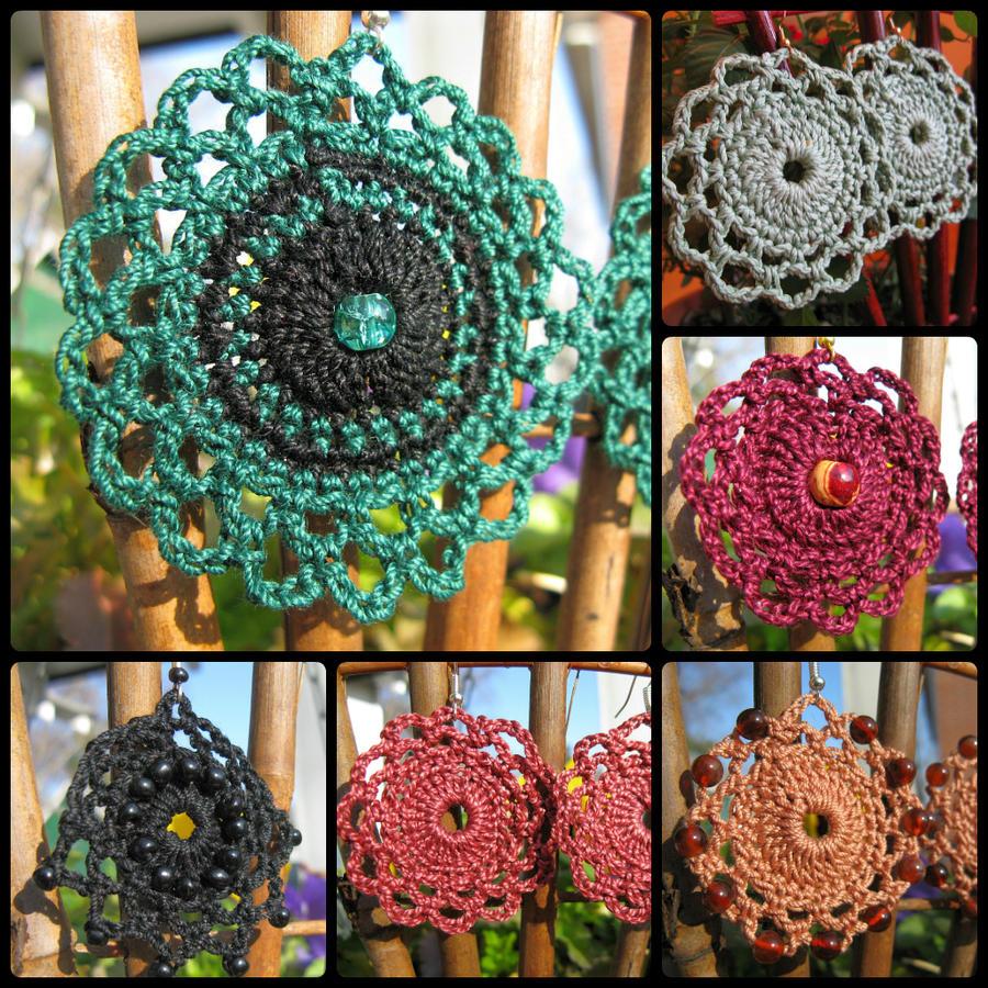 Free Crochet Earring Pattern Giveaway by doilydeas on DeviantArt