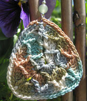 Guitar pick crochet earrings... by doilydeas