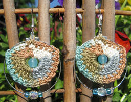 Crochet hoop earrings... by doilydeas