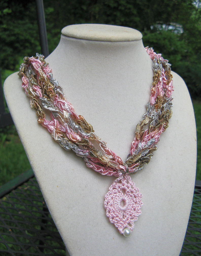 Crochet Ladder Ribbon Necklaces by doilydeas on DeviantArt