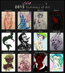 2015 art summary by valokilljoy
