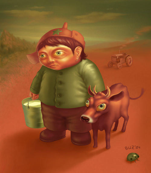 Boy and Cow by Buzuk-Eugen