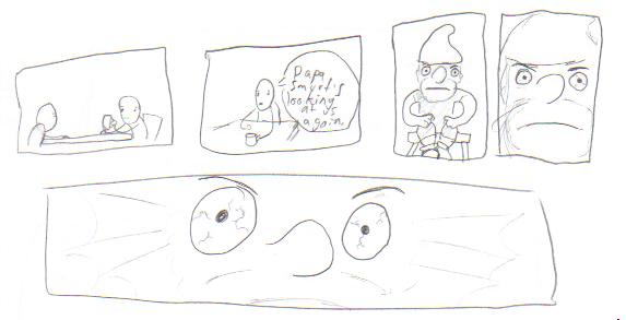 Papa Smurf is watching- sketch by derail-the-train