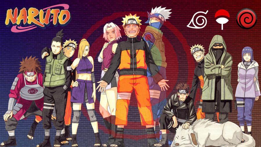 Naruto And Friends Wallpaper By BLAQQY