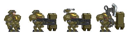 DRT-60 combat variants by Mechanox