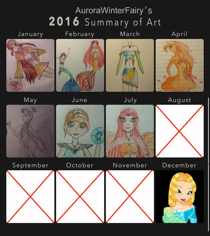2016 Summary of Art by AuroraWinterFairy