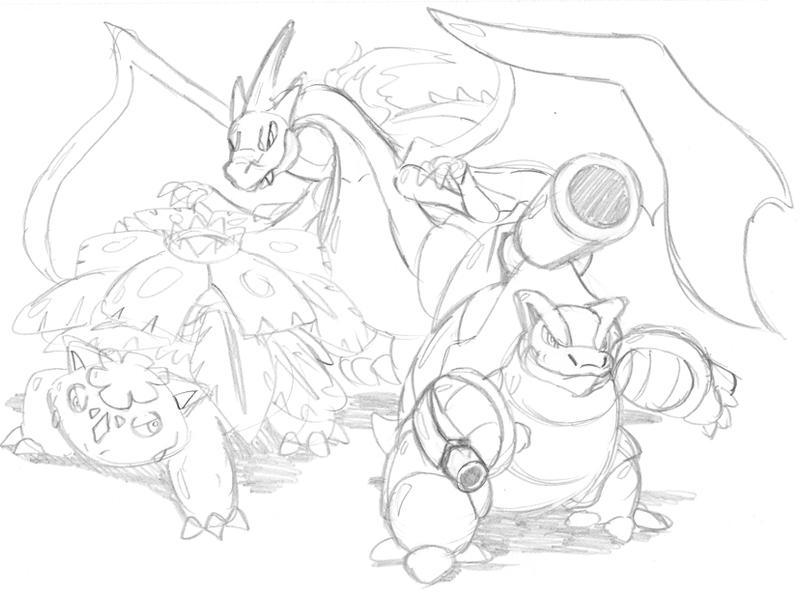Charmeleon Evolutions Kleurplaat Pokemon Charizard Vs Blastoise Coloring Pages Printable