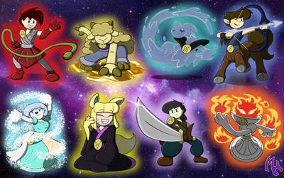 Draco Star Characters (2018) Set Five by DracoDragite