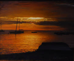 Sunset sketch by RLoben