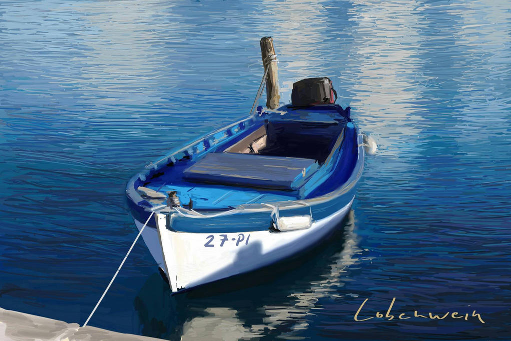 Boat - digital painting by RLoben