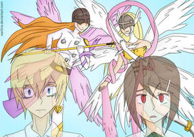 Angemon vs. Angewomon vers. 4/4 by Sanlina