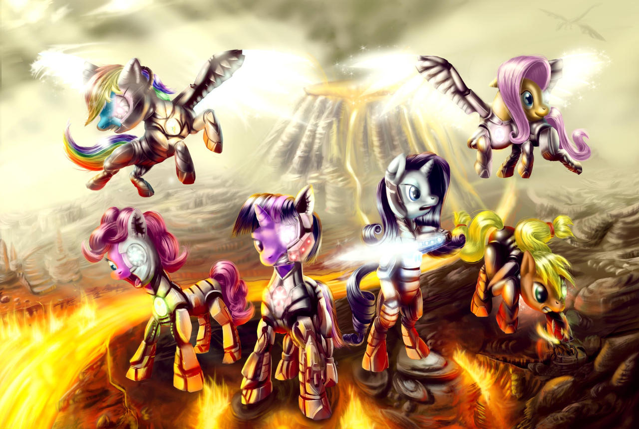 Cyber Ponies by zilvart on DeviantArt