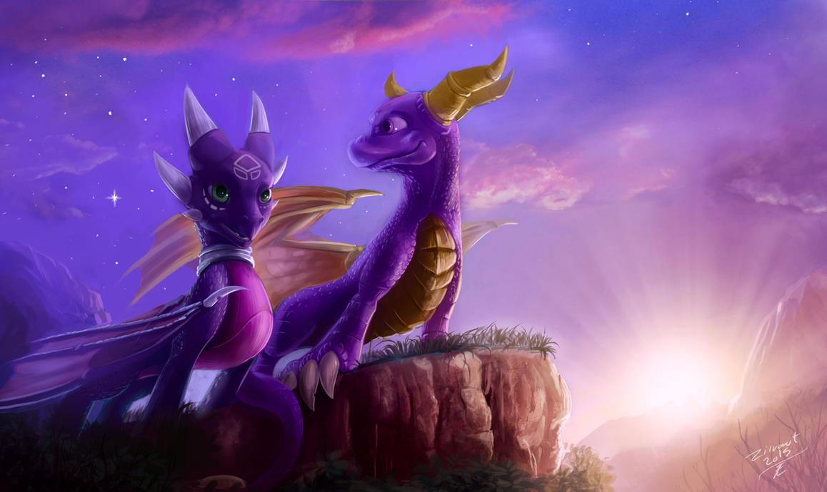 Spyro And Cynder by zilvart