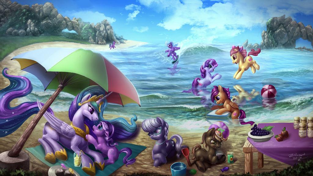 pony_beach_party_by_zilvart_dadvuaq-full