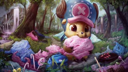 Chopper in Candyland by zilvart