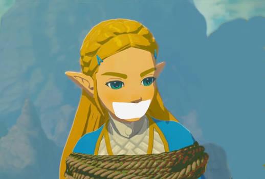 Fussy Zelda Bound and Gagged.