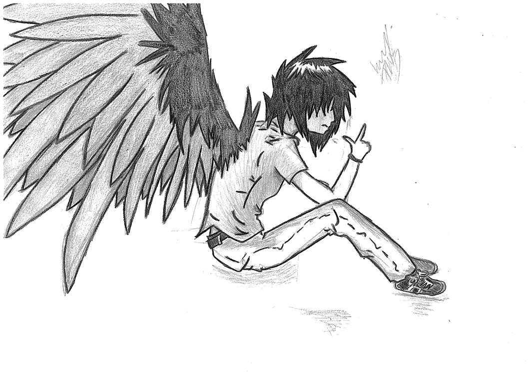 Anime Angel Boy by lil...