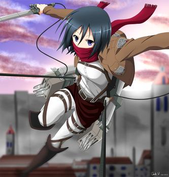Mikasa Ackerman by Okami49