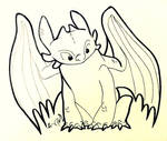 REDRAW: Toothless, The Night Fury