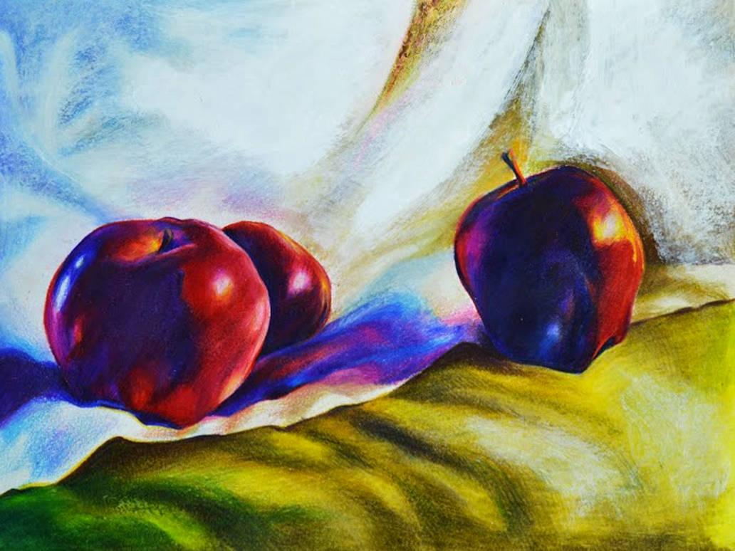 Three Apples (Drawing)