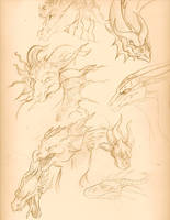 Dragon Sketchpage by AlexandraBowmanArt