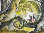 Saint George and the Dragon (Watercolor)