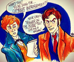 Newt Scamander and the Tenth Doctor