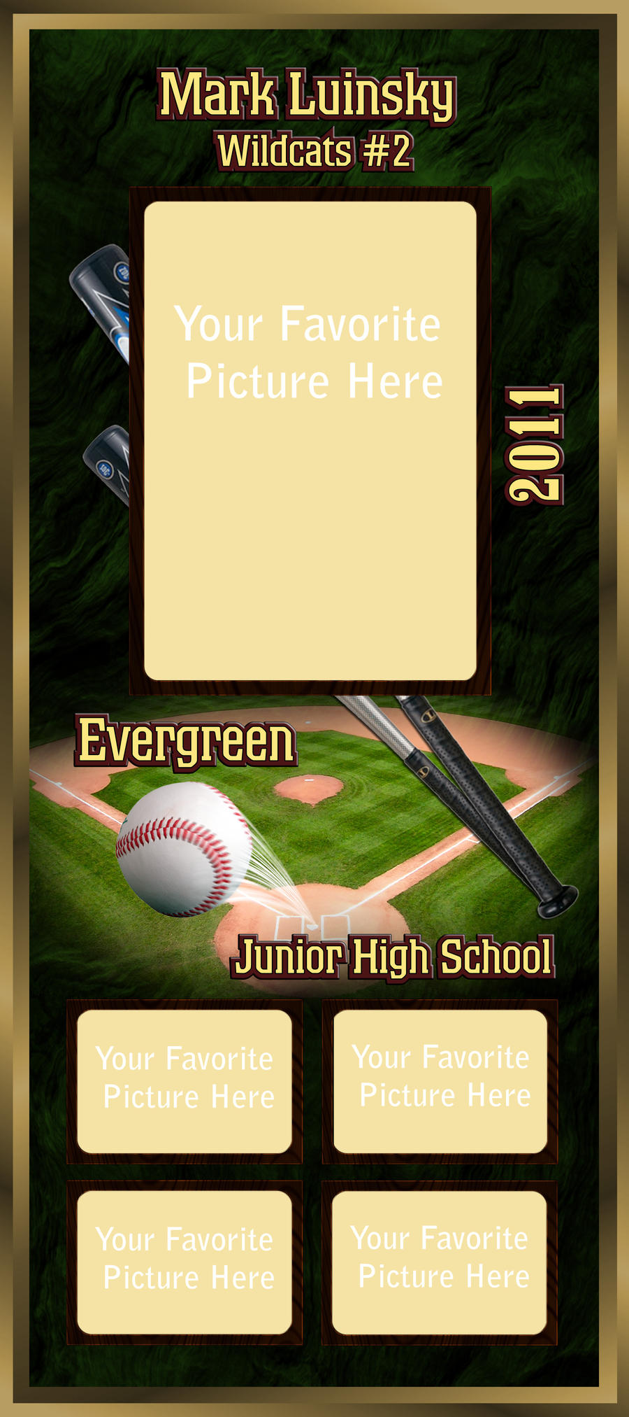 baseball frame by silver wolf studios