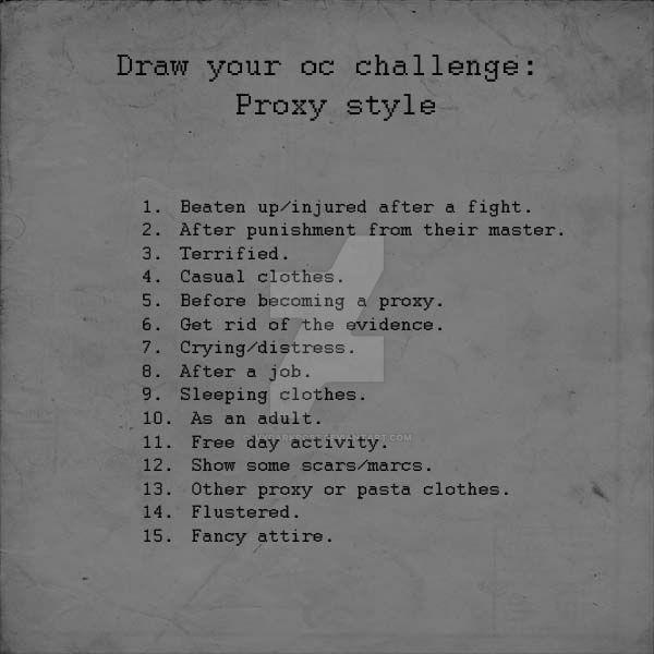 Draw Your Oc Challenge Proxy Style By Ivydarkrose On Deviantart