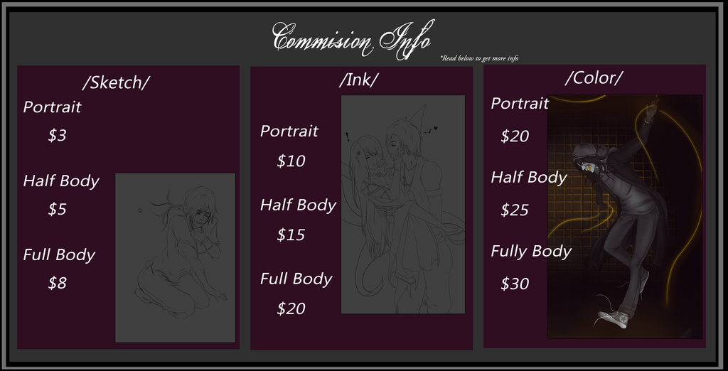[Commission info] Open by IvyDarkRose