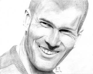 Zinedine Zidane by noir-badger
