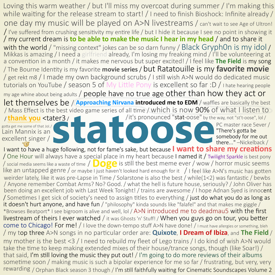 Notes: Statoose Edition by statoose