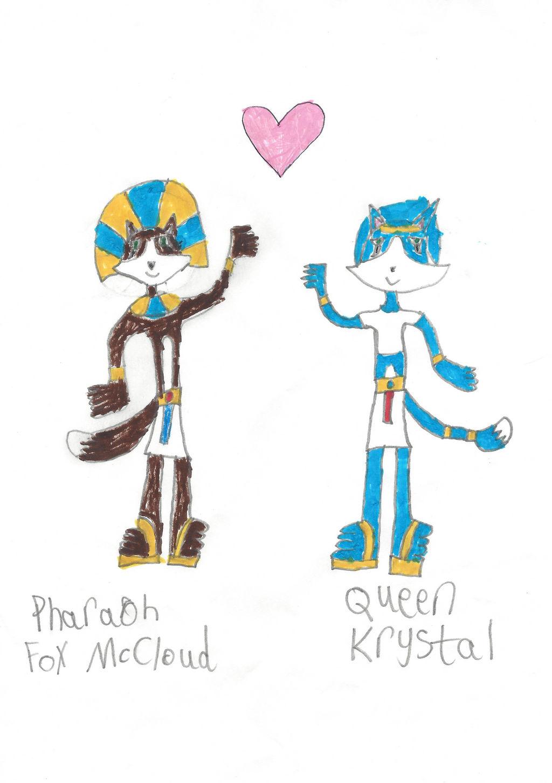 Pharaoh Fox McCloud and Queen Krystal