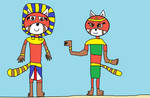 Kit and Kalimba Pharaoh and Queen