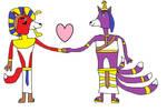 RQ: Pharaoh Anubis the Fox and his Queen