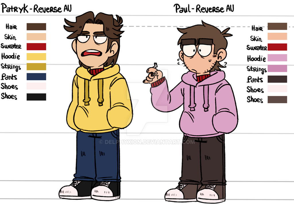 Reverse AU design  Paul and Patryk by delphyxion