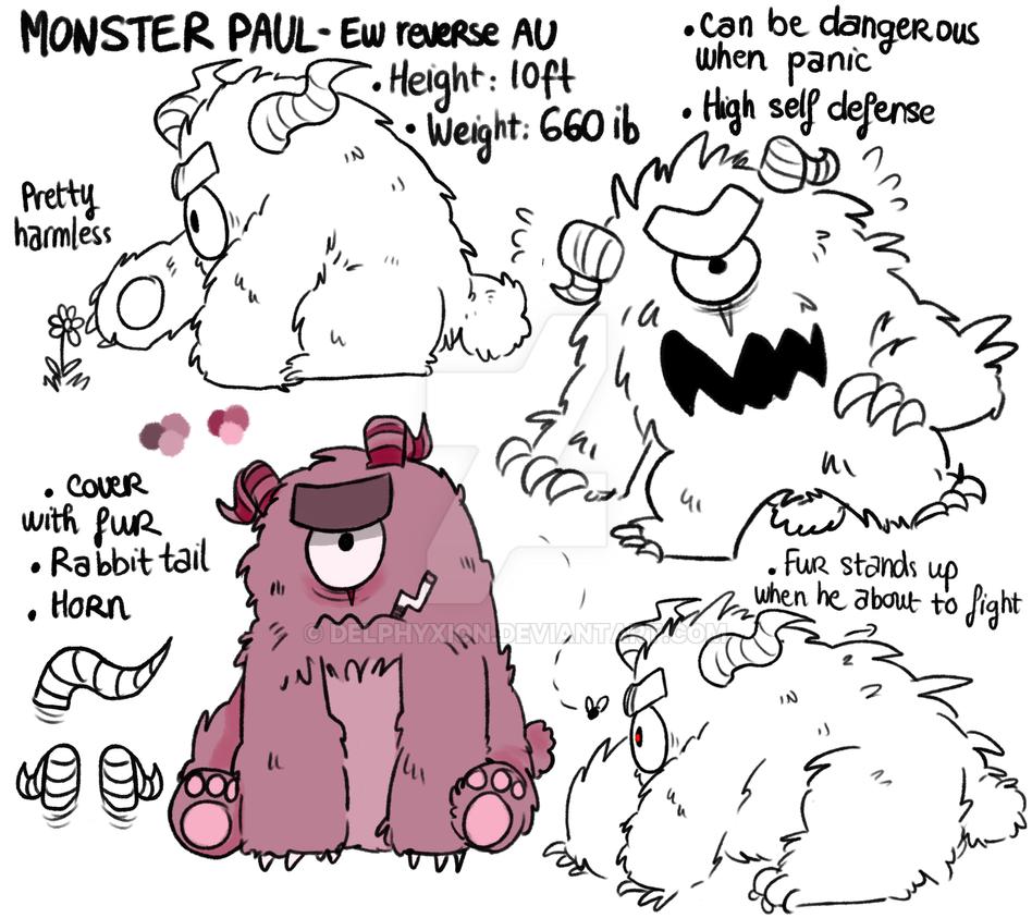 Reverse AU design  Monster Paul by delphyxion
