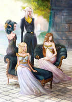 The Races of A beautiful Cham - Elves by Jii-en