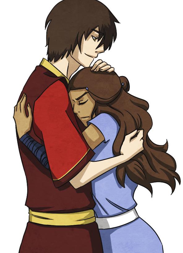 Zutara - Hug by beanaroony
