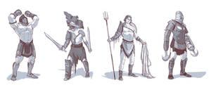 gladiator sketches