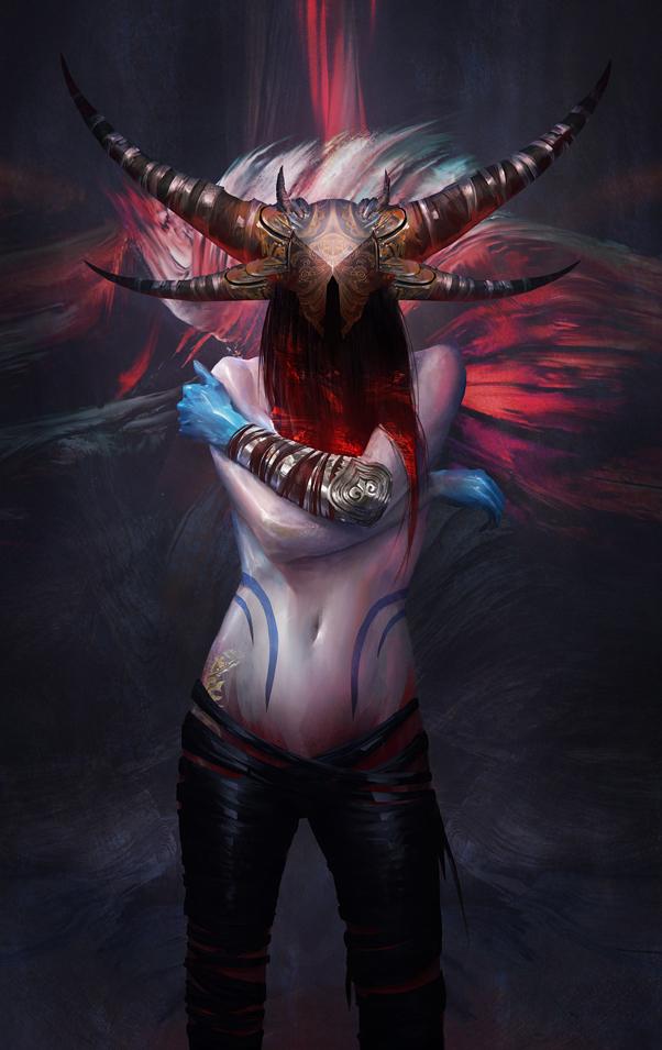 horned lady by yefumm