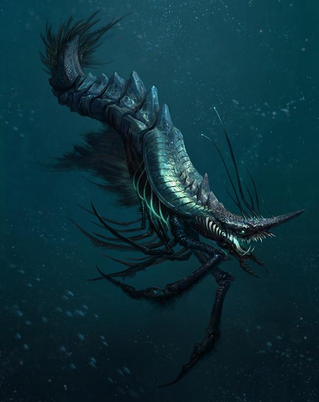 Alien sea creature by yefumm