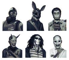 Bank Robber Portraits by yefumm
