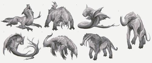 Grootslang Sketches by yefumm