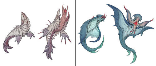 Parasitic Decoy Fish by yefumm